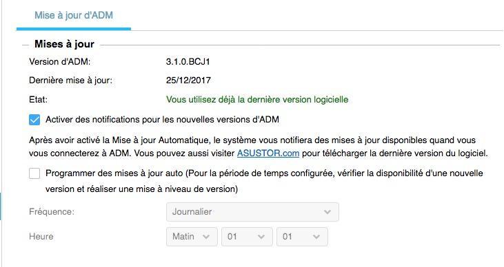 adm 31 beta - NAS - ASUSTOR ADM 3.1 Beta est disponible