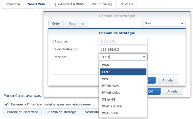 chemin strategie synology - Routeur Synology RT2600ac avec 2 connexions Internet