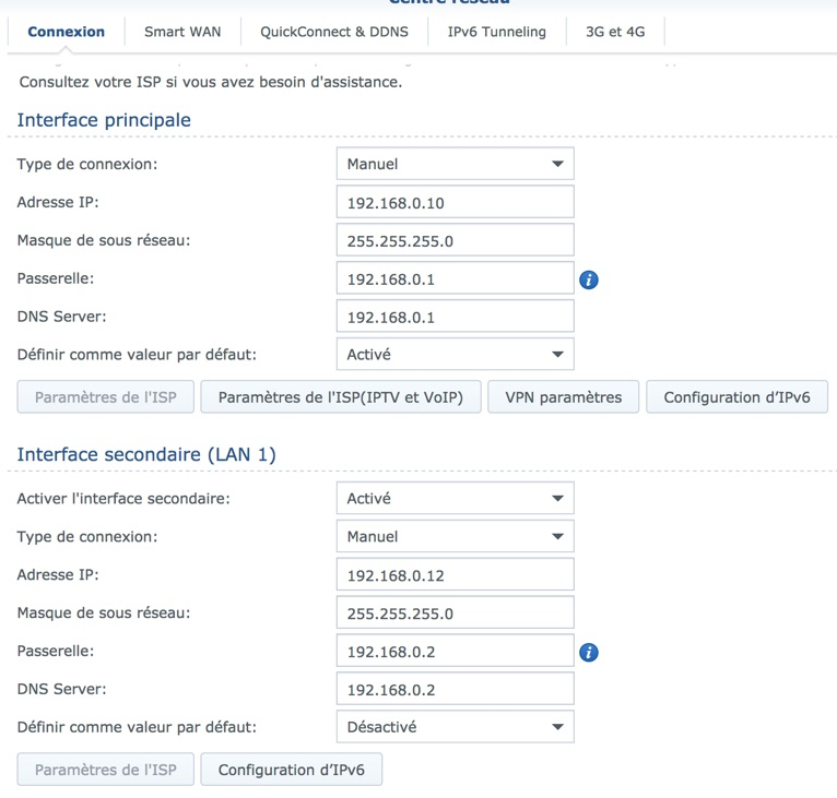 configuration synology rt2600ac - Routeur Synology RT2600ac avec 2 connexions Internet