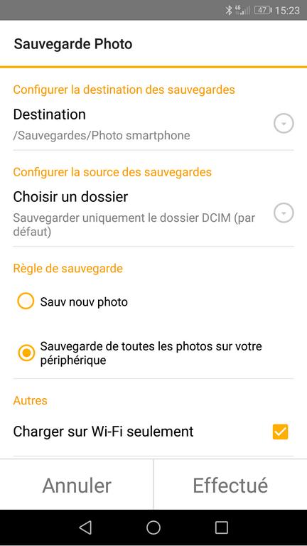 DSFile 4 - Sauvegarder les photos de votre smartphone avec DSFile