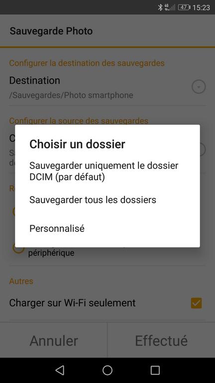 DSFile 5 - Sauvegarder les photos de votre smartphone avec DSFile