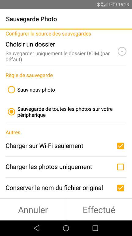 DSFile 6 - Sauvegarder les photos de votre smartphone avec DSFile