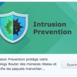 Intrusion Prevention - Tuile d'installation