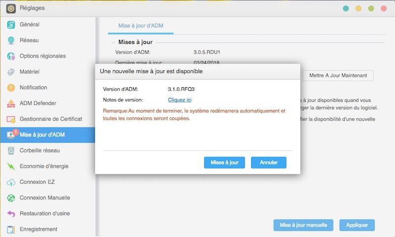 maj adm 31 - NAS - Asustor ADM 3.1 disponible, voici les nouveautés