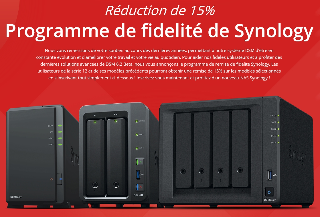 reduction Synology