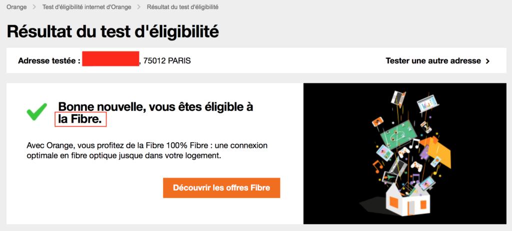 Capture Eligibible Orange 2 1024x463 - Fibre... Tu veux ou tu veux pas ! (SFR)