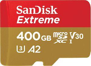 Extreme microSD U3 A2 400GO - Western Digital : WD, HGST, SanDisk et G-Technology