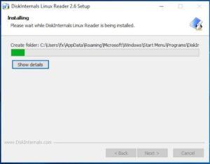 Linux Reader Install 4 300x235 - Lire le disque NAS depuis Windows (Gratuit) - ext2 / ext3 / ext4