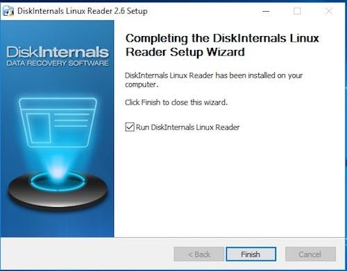 Linux Reader Install 5 - Lire le disque NAS depuis Windows (Gratuit) - ext2 / ext3 / ext4