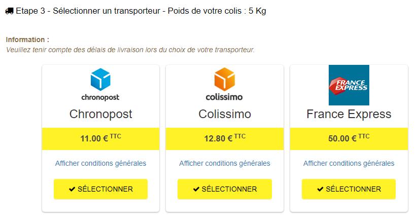 coliback choix transporteur - ColiBack - Le retour de colis simplifié