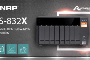 QNAP TS 832X 370x247 - QNAP lance le TS-832X : 8 baies, processeur quad-core, 2 ports SFP+ 10GbE...