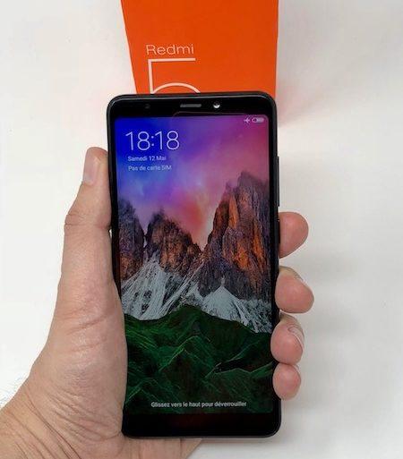 Xiaomi Redmi 5 start 450x513 - Test du smartphone Xiaomi Redmi 5