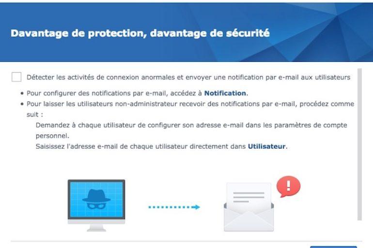 conseiller securite 770x513 - Synology DSM 6.2 est disponible pour tous les NAS...