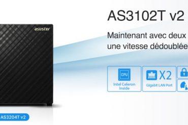 ASUSTOR AS3102T v2 AS3204T v2 370x247 - 2 nouveaux NAS chez ASUSTOR : AS3102T v2 et AS3204T v2