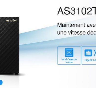 ASUSTOR AS3102T v2 AS3204T v2 390x357 - 2 nouveaux NAS chez ASUSTOR : AS3102T v2 et AS3204T v2