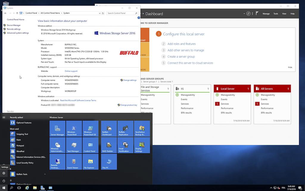 Buffalo WS5420DN6 20 1 - Test NAS Buffalo TeraStation WS5420DNW6 (Windows Server)