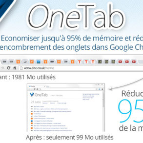 OneTab 293x293 - 5 extensions indispensables pour Google Chrome