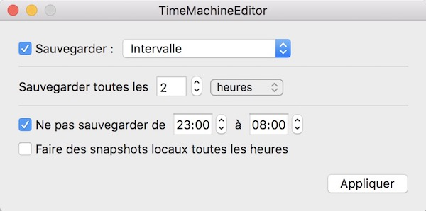 TimeMachineEditor - Tuto - Time Machine et NAS Synology