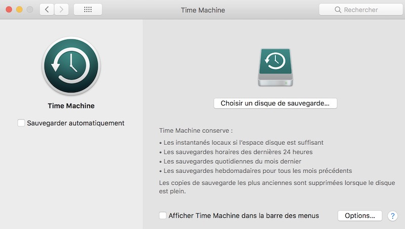 Time Machine - Tuto - Time Machine et NAS Synology
