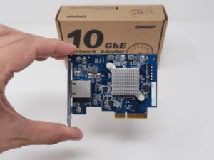 QNAP QXG 10G1T avant 300x225 - QNAP QXG-10G1T - Test de la carte réseau 10 Gbits/s