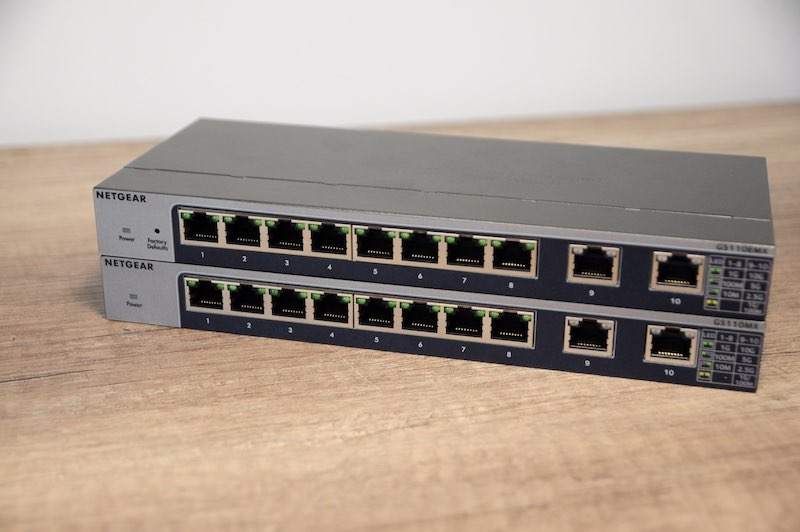 gs110emx mx - Test de 2 switches Netgear 10 Gbit/s