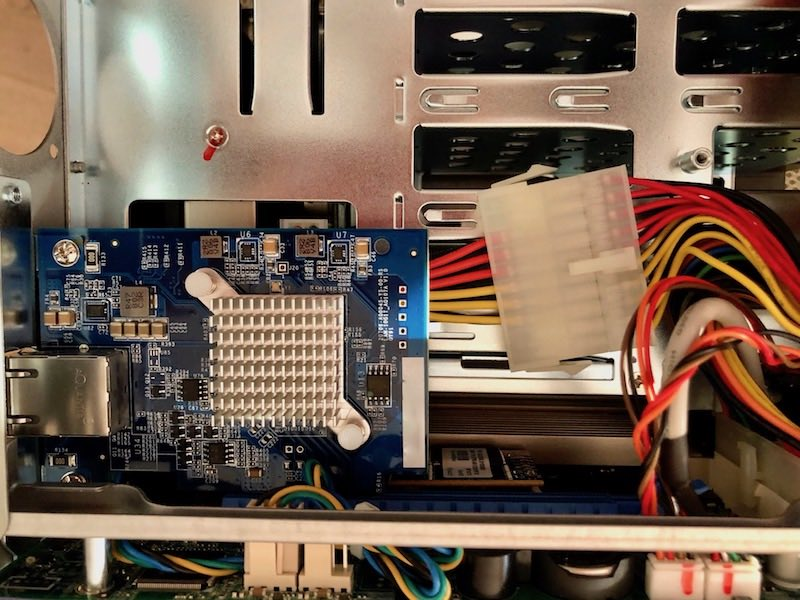 installation QXG 10G1T - QNAP QXG-10G1T - Test de la carte réseau 10 Gbits/s