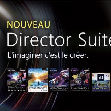 Cyberlink Director Suite 365 390x390 - CyberLink lance PowerDirector 17, ColorDirector 7, AudioDirector 8 et PhotoDirector 10