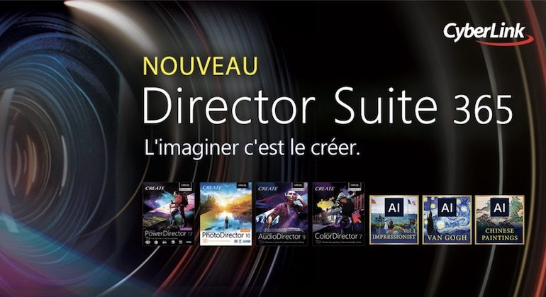 Cyberlink Director Suite 365 770x419 - CyberLink lance PowerDirector 17, ColorDirector 7, AudioDirector 8 et PhotoDirector 10
