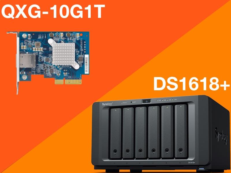 QXG 10G1T DS1618plus - Peut-on mettre une carte réseau QNAP 10 Gbit/s dans un NAS Synology ?