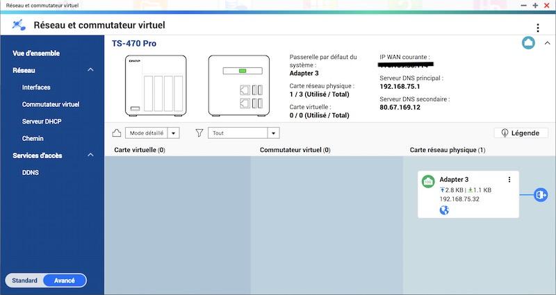 Reseau commutateur virtuel - QTS 4.3.5 Beta est disponible pour les NAS QNAP mais...