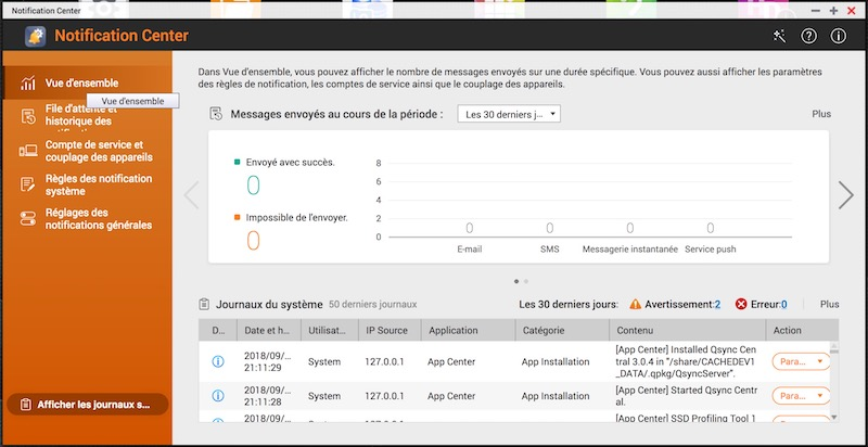 notifications - QTS 4.3.5 Beta est disponible pour les NAS QNAP mais...