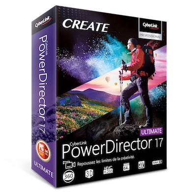 powerdirector 17 - CyberLink lance PowerDirector 17, ColorDirector 7, AudioDirector 8 et PhotoDirector 10