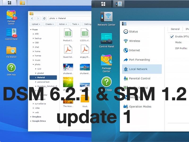 DSM SRM update1 - Brèves : Mises à jour chez Synology DSM & SRM