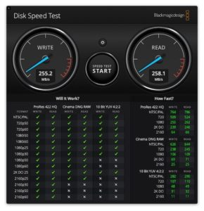 DiskSpeedTest 290x300 - Test Seagate IronWolf Pro 14 To