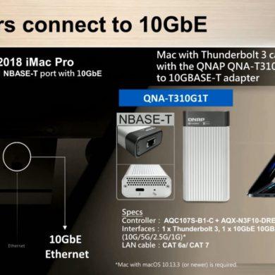 QNAP QNA T310G1T 390x390 - QNAP QNA-TS310G1T adaptateur Thunderbolt 3 et 10 Gbit/s