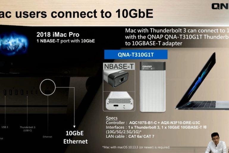 QNAP QNA T310G1T 770x513 - QNAP QNA-TS310G1T adaptateur Thunderbolt 3 et 10 Gbit/s