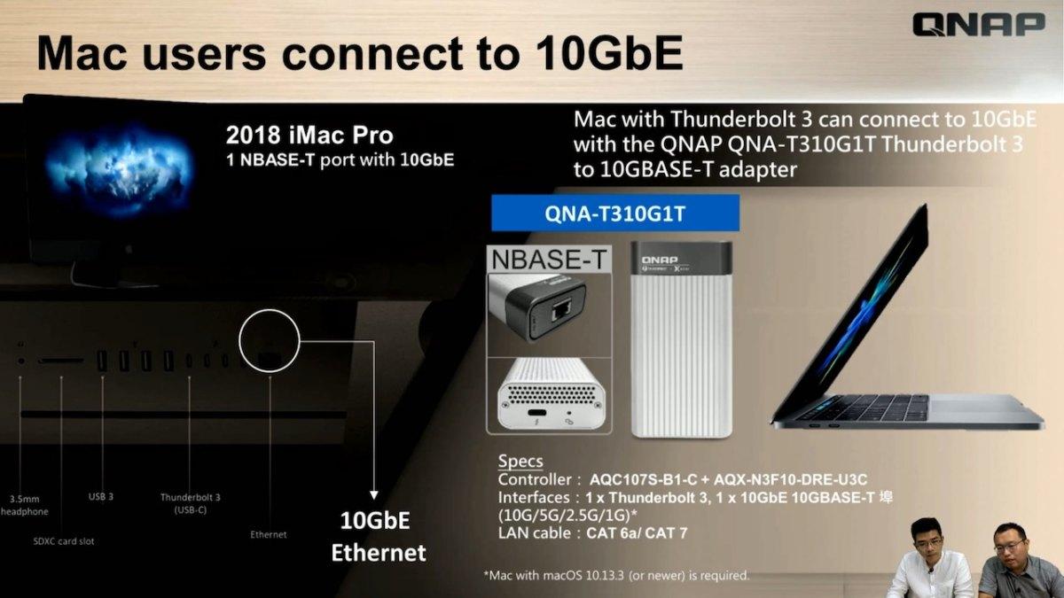 QNAP QNA T310G1T - QNAP QNA-TS310G1T adaptateur Thunderbolt 3 et 10 Gbit/s