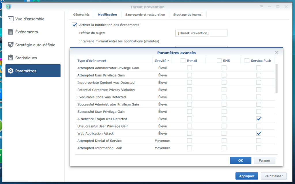 ThreatPrevention Param Notif 1024x639 - Synology SRM 1.2 - Threat Prevention