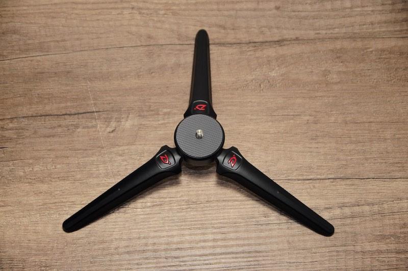 gimbal pied ouvert - Prise en main du Zhiyun Smooth 4 (stabilisateur 3 axes)