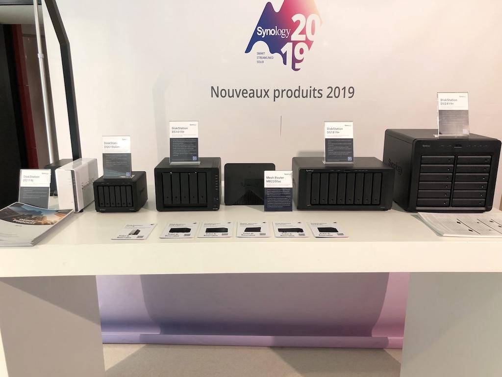 nouveaux NAS 2019 - Synology NAS DS619slim, DS1019+, DS1819+ et DS2419+
