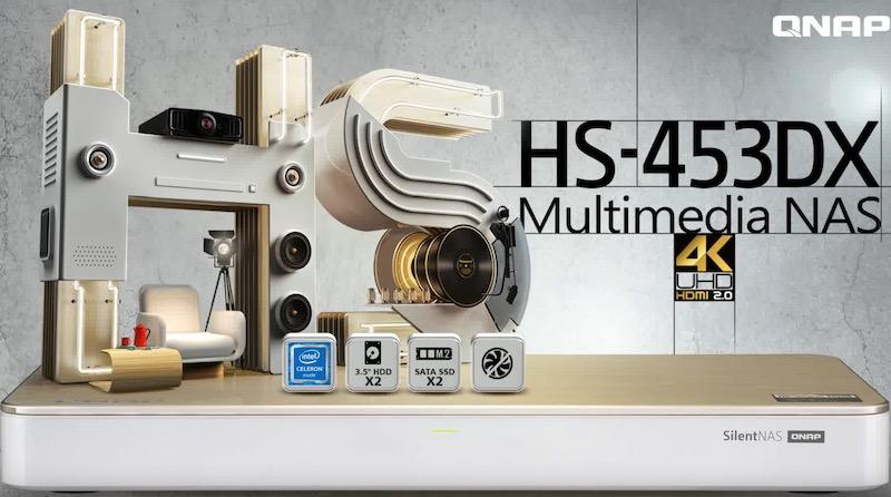 qnap HS 453DX - QNAP HS-453DX, le nouveau NAS platine...
