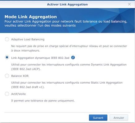 Link aggregation dynamique IEEE 802.3ad - Agrégation de liens et NAS Synology