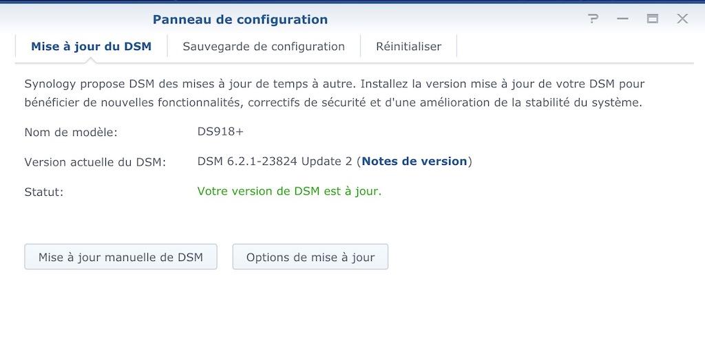 DSM 621 23824 update2 - Brève - Synology met à jour ses NAS : DSM 6.2.1 update 2
