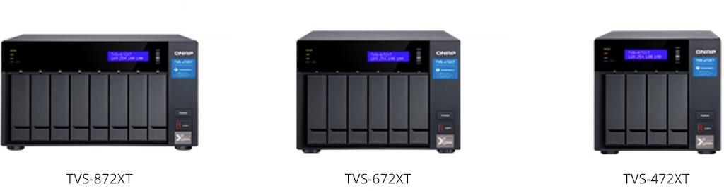 TVS x72XT - NAS QNAP TVS-x72XT : processeur Intel 8e génération, HDMI 2.0, 10GbE, Thunderbolt 3...
