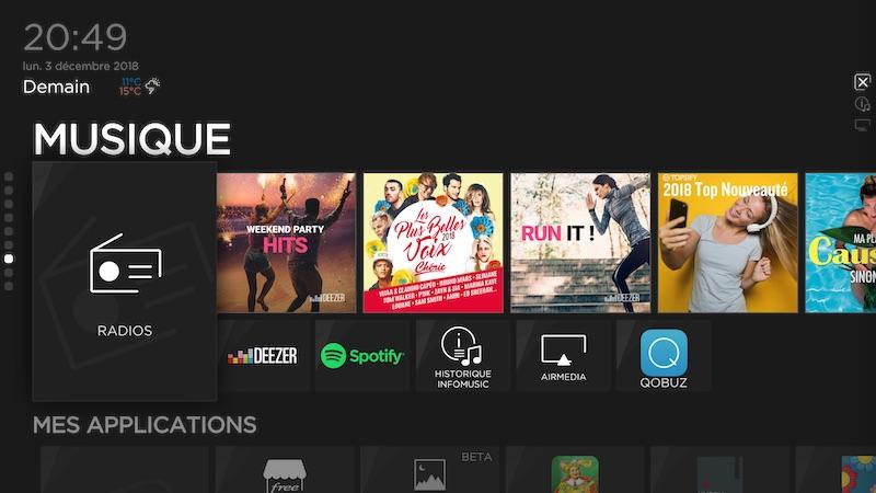 musique - Freebox : Fibre 10 Gbit/s, NAS, Netflix, Devialet, Somfy...