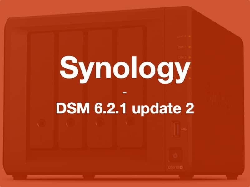 synology DSM6212 - Brève - Synology met à jour ses NAS : DSM 6.2.1 update 2