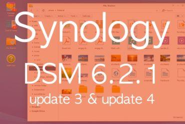 synology DSM621 update3 370x247 - Brève - 2 mises à jour pour les NAS Synology DSM 6.2.1