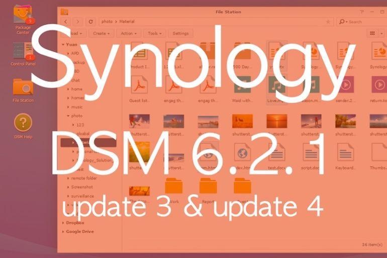 synology DSM621 update3 770x513 - Brève - 2 mises à jour pour les NAS Synology DSM 6.2.1
