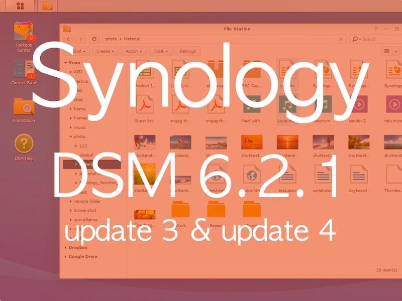 synology DSM621 update3 - Brève - 2 mises à jour pour les NAS Synology DSM 6.2.1