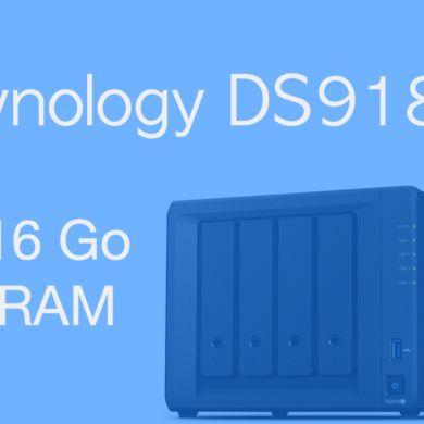 16Go RAM Synology DS918 390x390 - 16Go de RAM dans un NAS Synology DS918+ : Oui c'est possible...